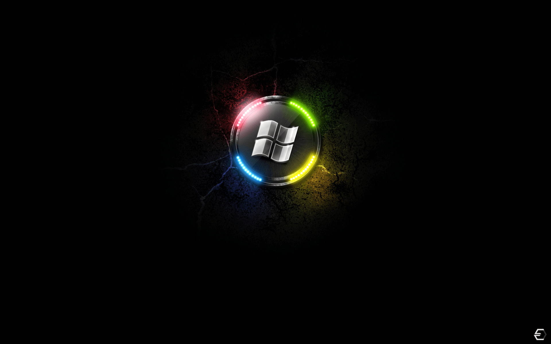 Microsoft Windows Logo Dark Backgrounds Wallpapers
