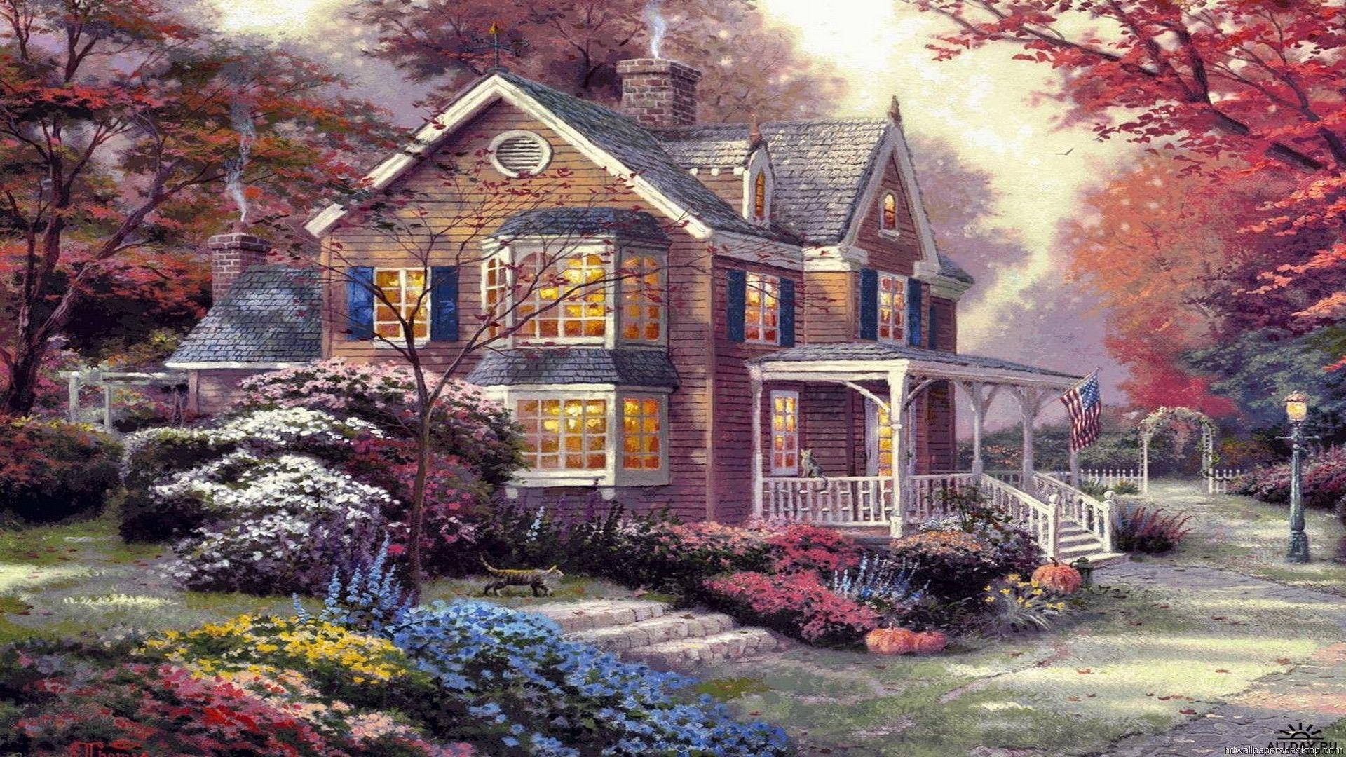 thomas kinkade wallpaper 1920x1080 - photo #44