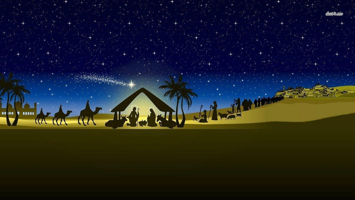 Nativity christmas wallpaper