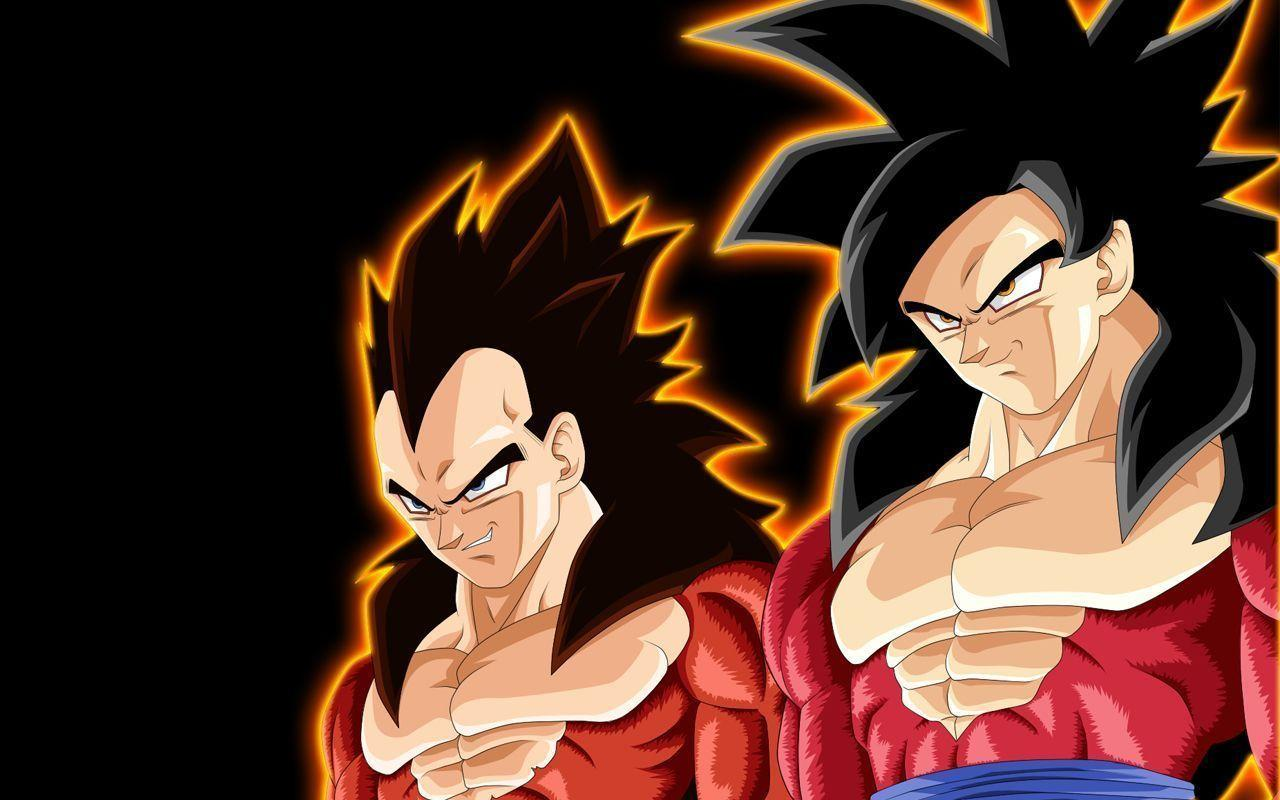 Dragon Ball GT Goku And Vegeta Super Saiyin 4