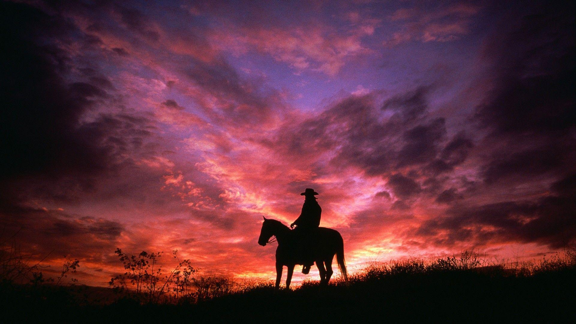 cowgirl silhouett wallpaper - photo #13
