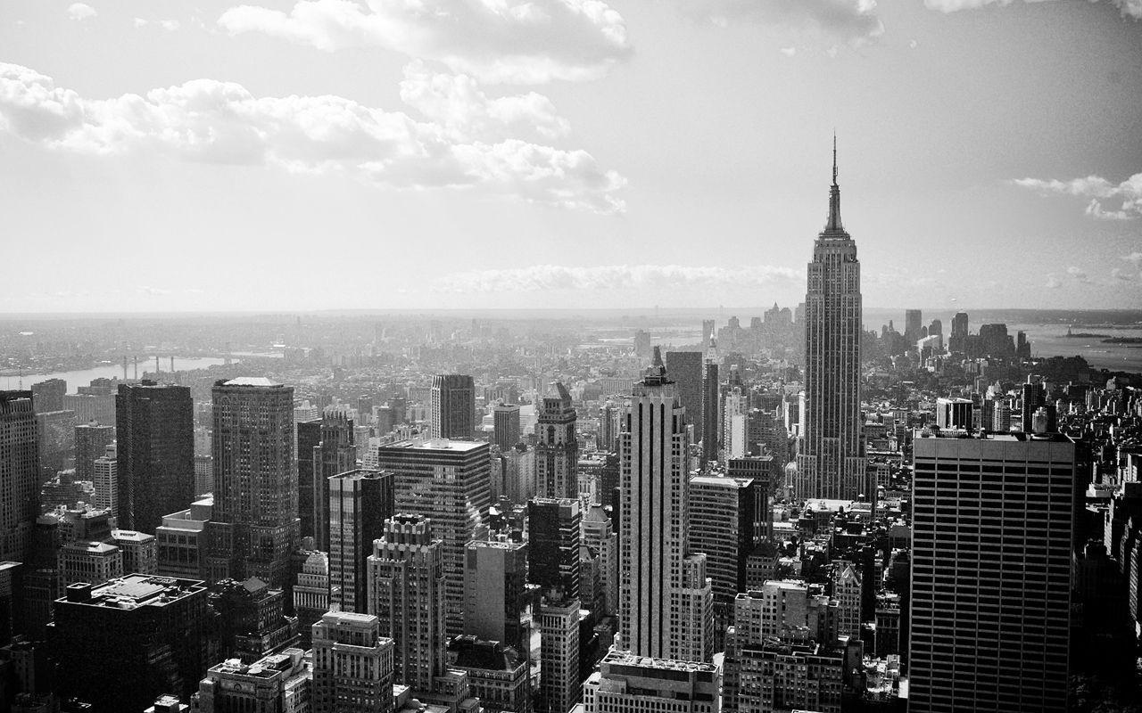 New York Skyline Wallpapers Black And White 5026 HD Wallpapers