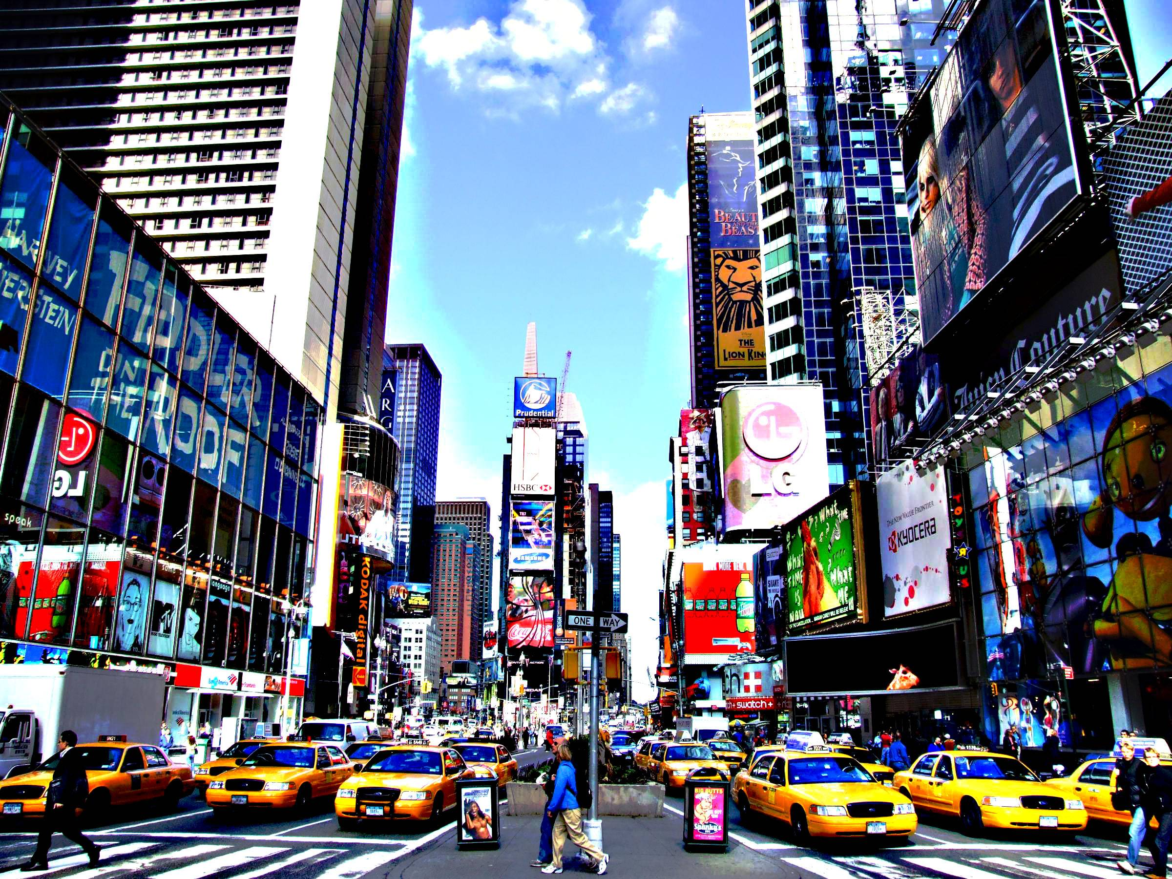Times Square new york usa city cities traffic g wallpaper ...