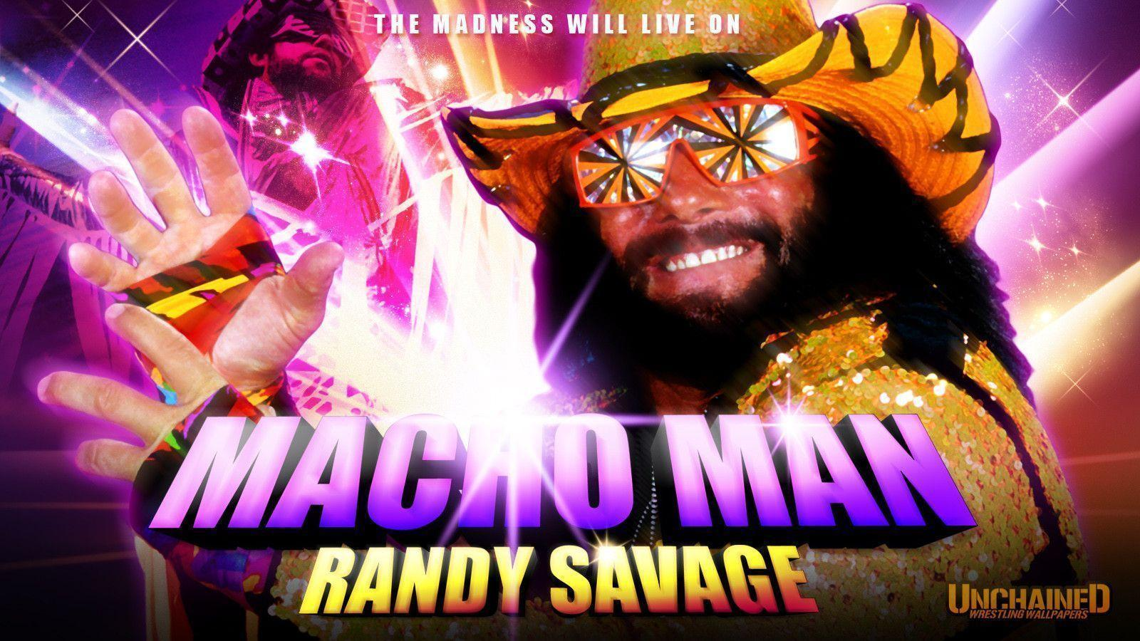 WWE Macho Man Randy Savage Tribute Wallpaper Unchained