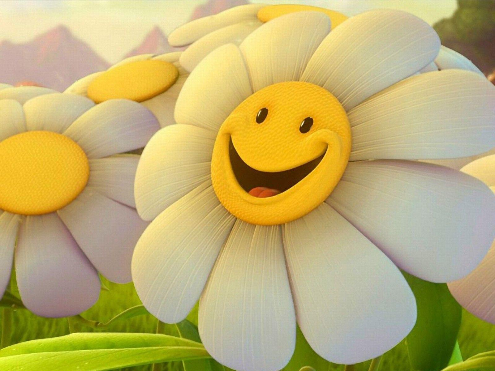 Download Flower Smiley Faces Wallpapers