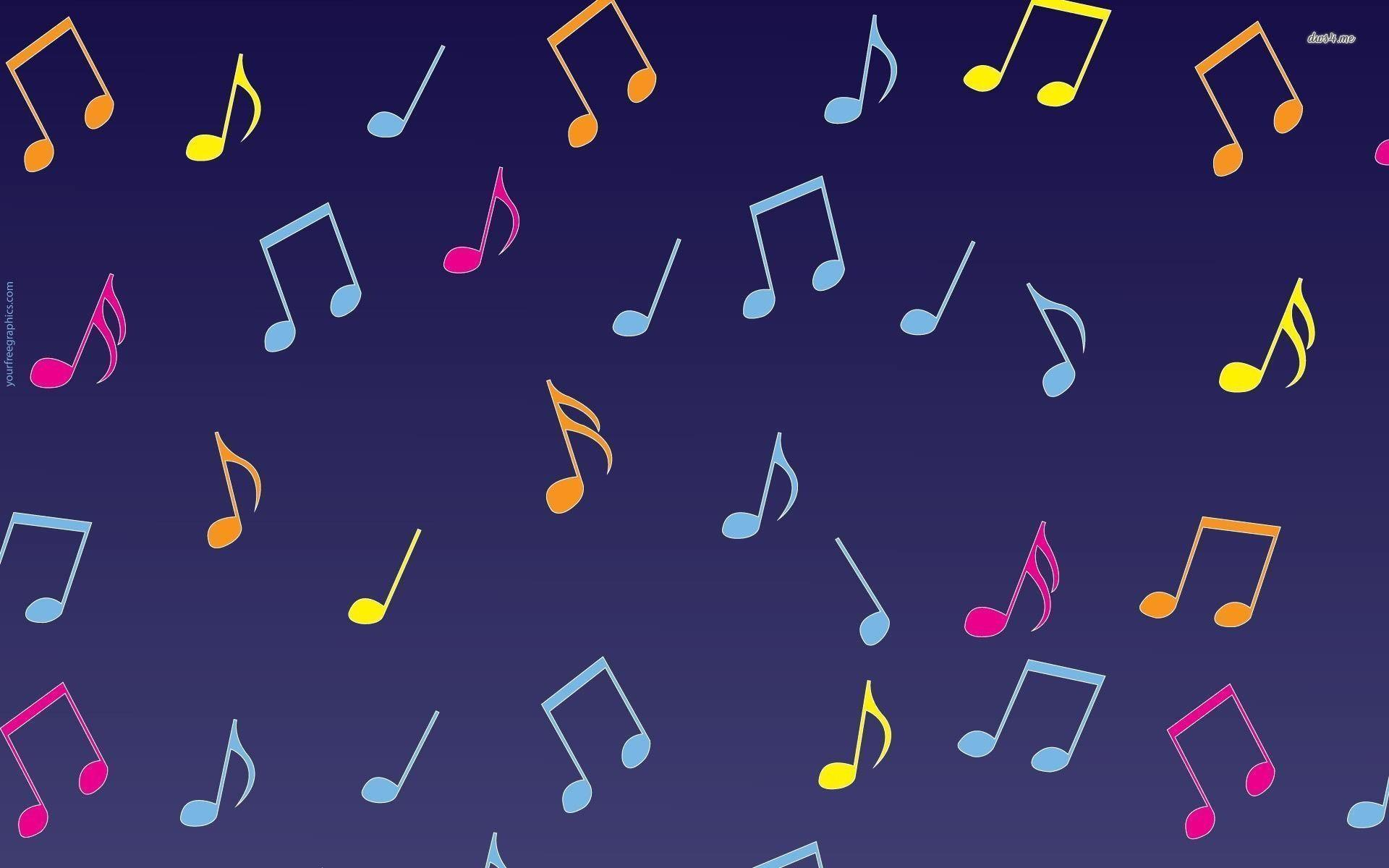 Rainbow Music Notes Background Hd Wallpaper Background Images: Music Note Backgrounds