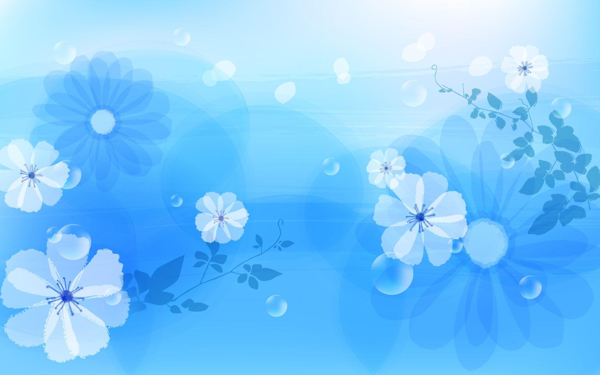 Blue Flower Backgrounds Wallpaper Cave