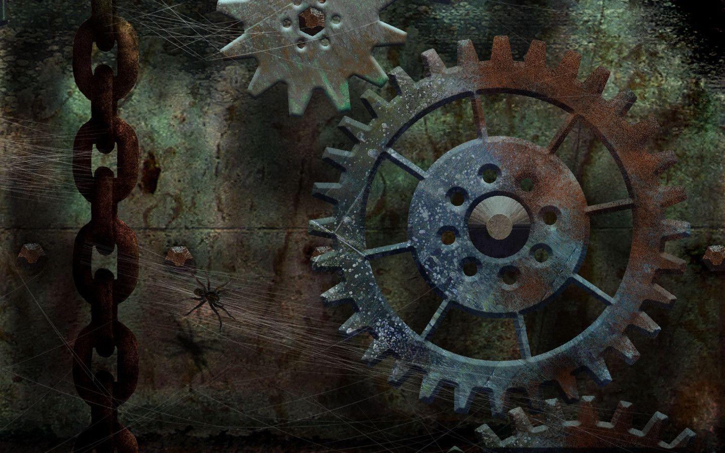 steampunk gears wallpaper - photo #9