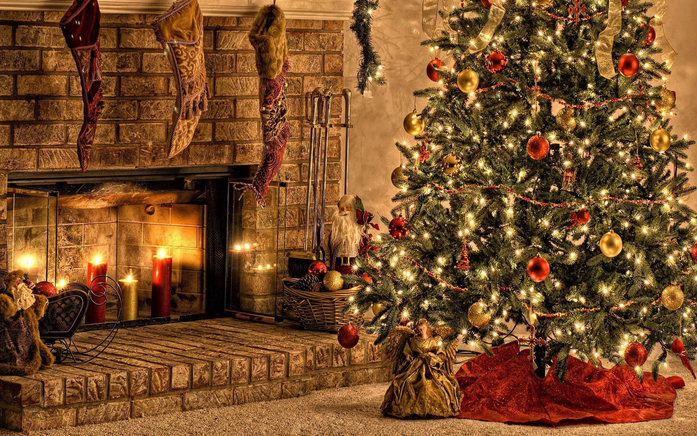 Free Fireplace Wallpaper: Christmas Fireplace Backgrounds