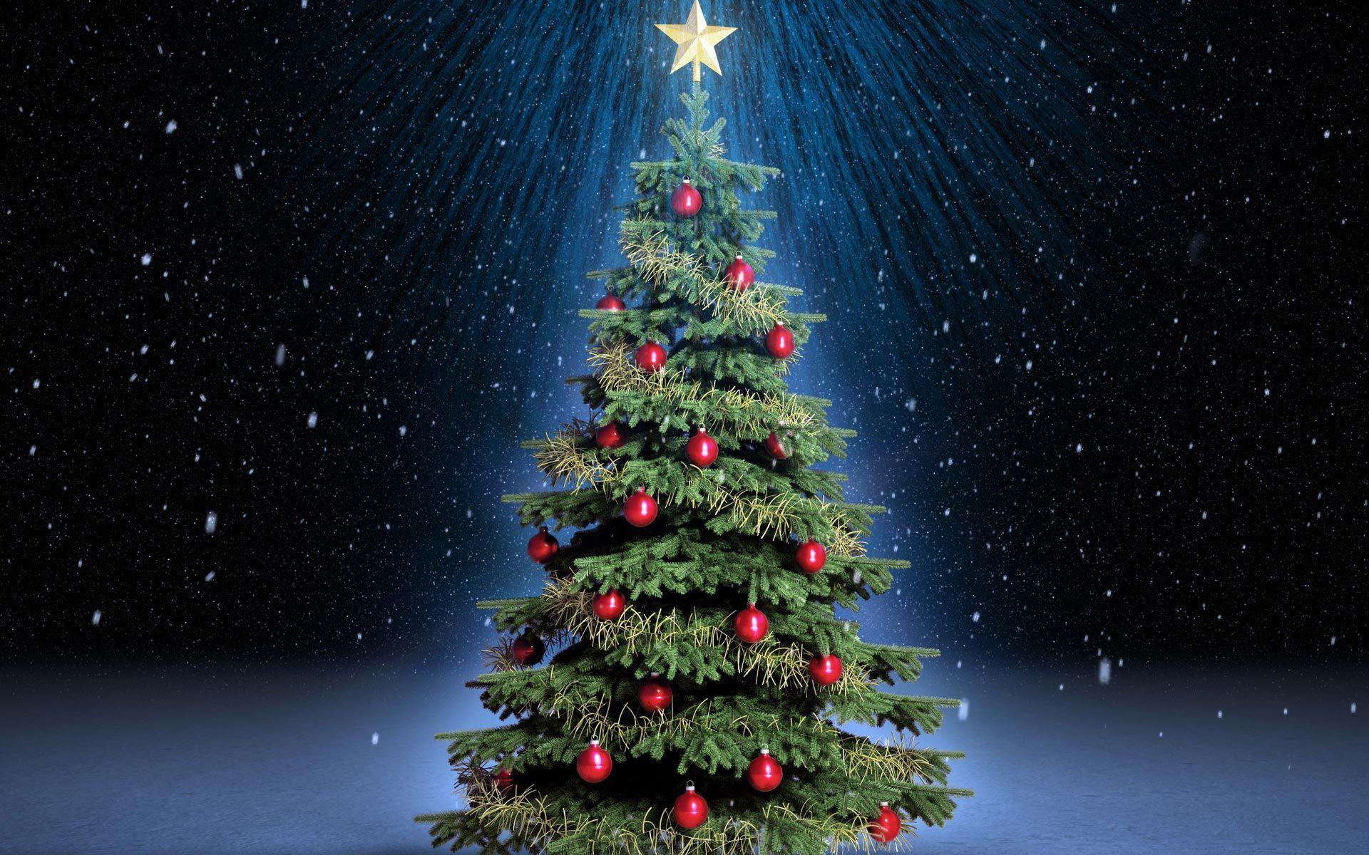 free christmas tree wallpapers - photo #1