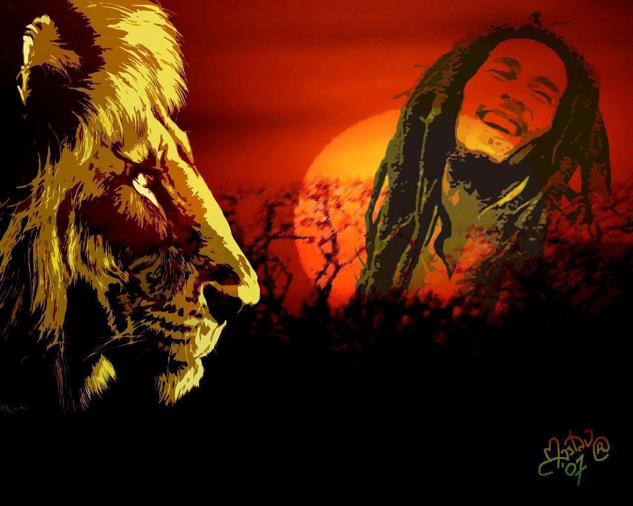 Rasta Lion Hd Wallpaper Bob Marley Backgrounds...