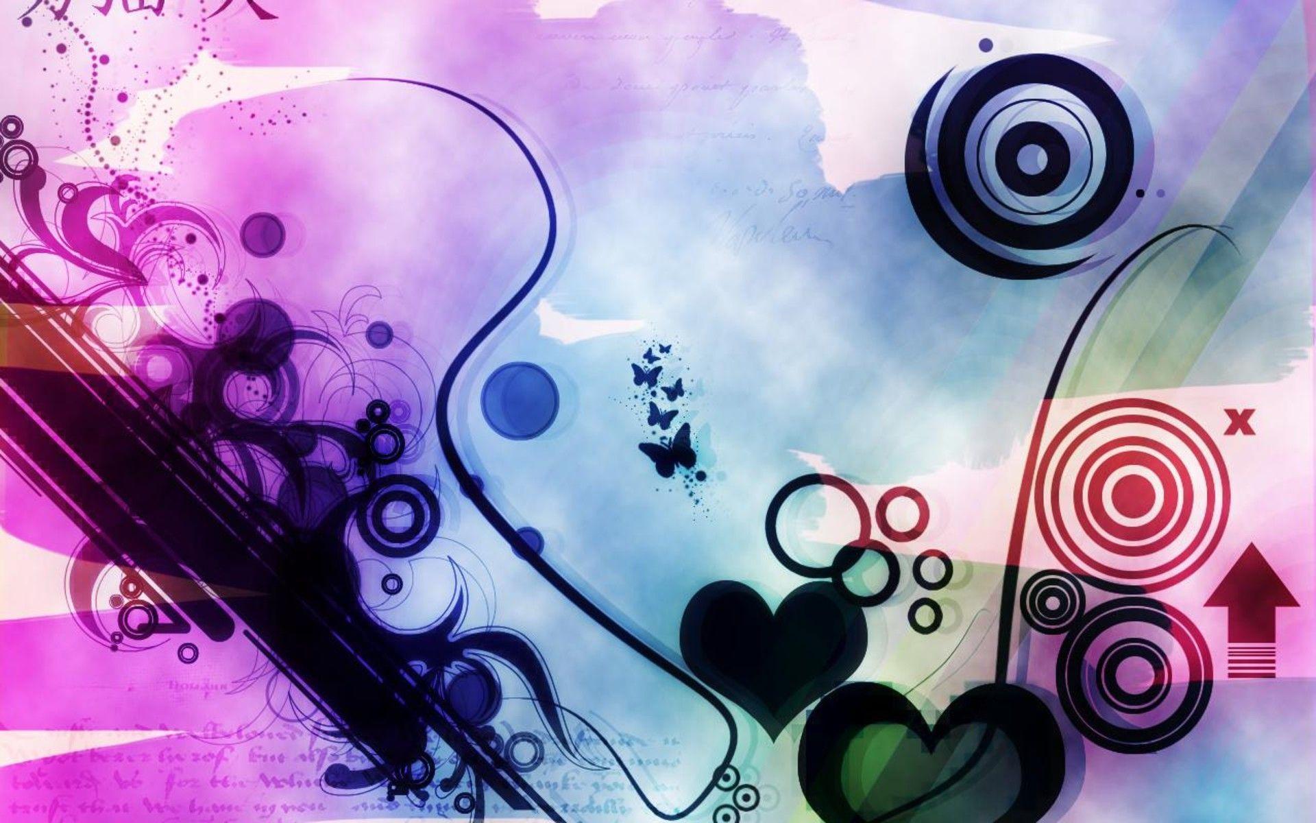 Abstract Love Art Wallpaper