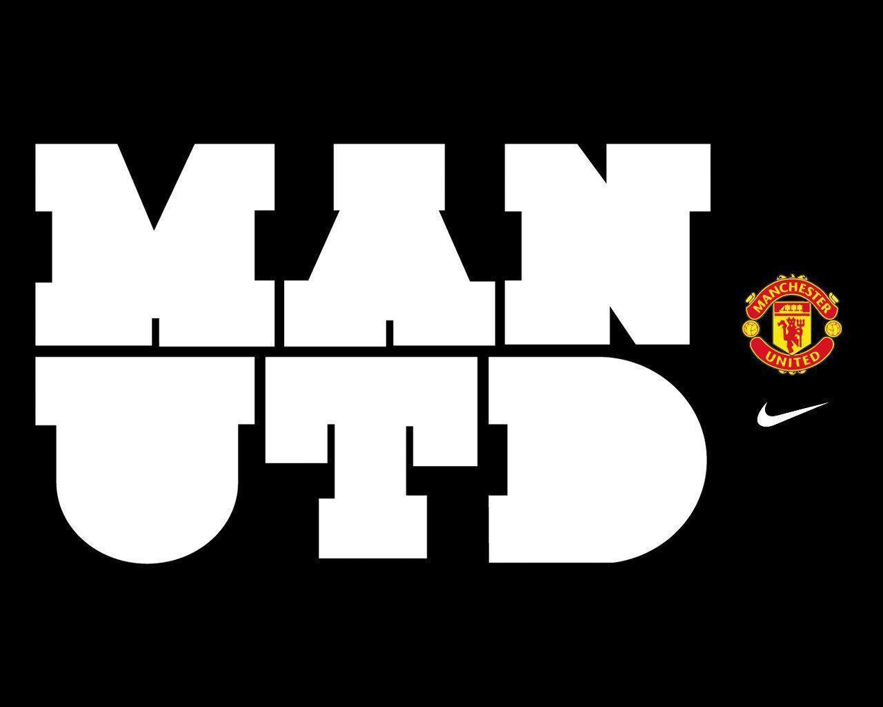 Black White HD Manchester United Logo Wallpape • SongiadaPro