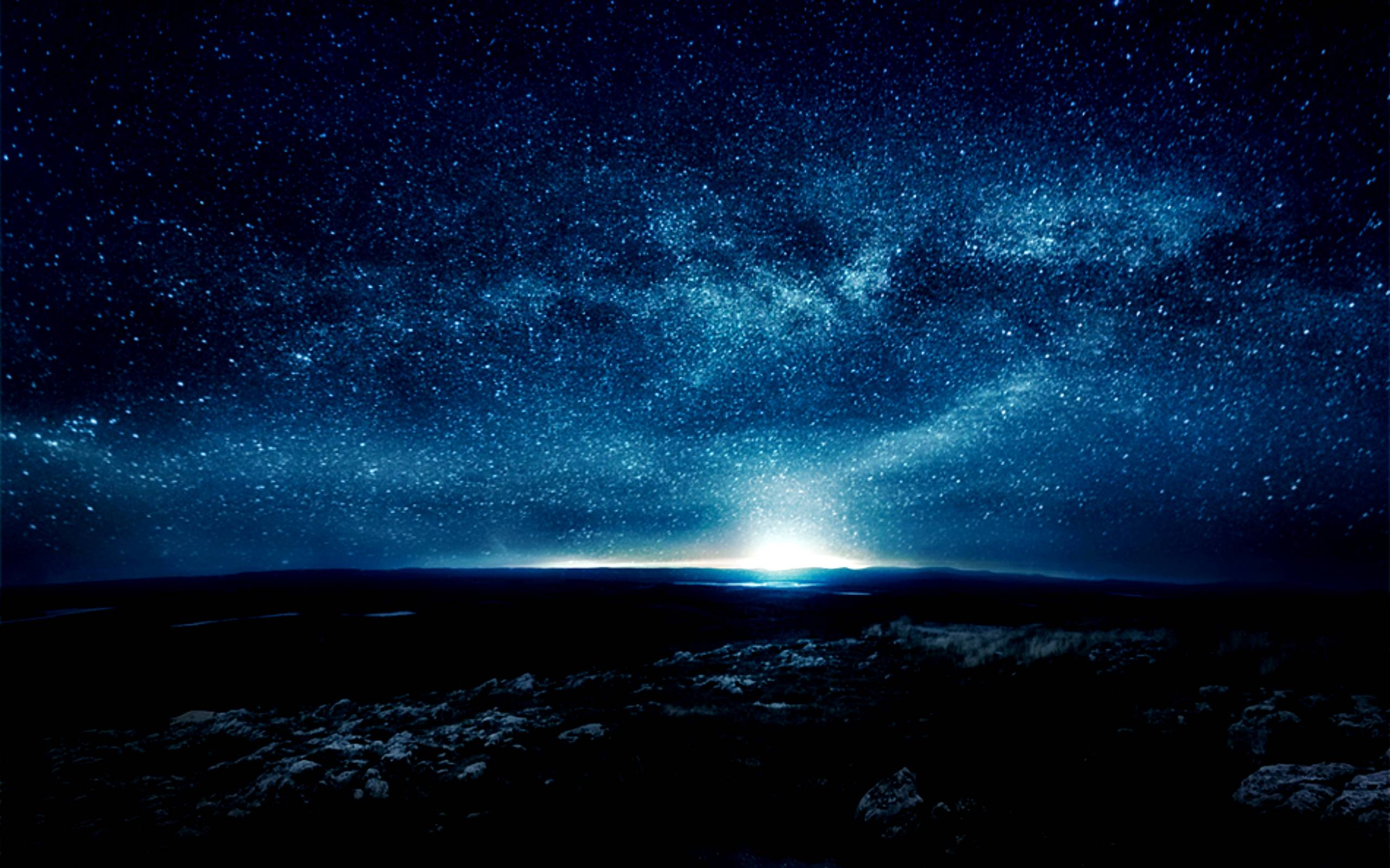 blue night sky background - photo #38