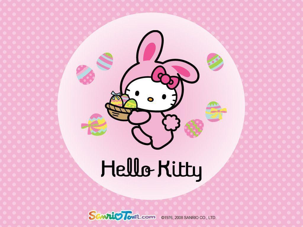 Hello kitty spring wallpapers wallpaper cave for Bureau hello kitty
