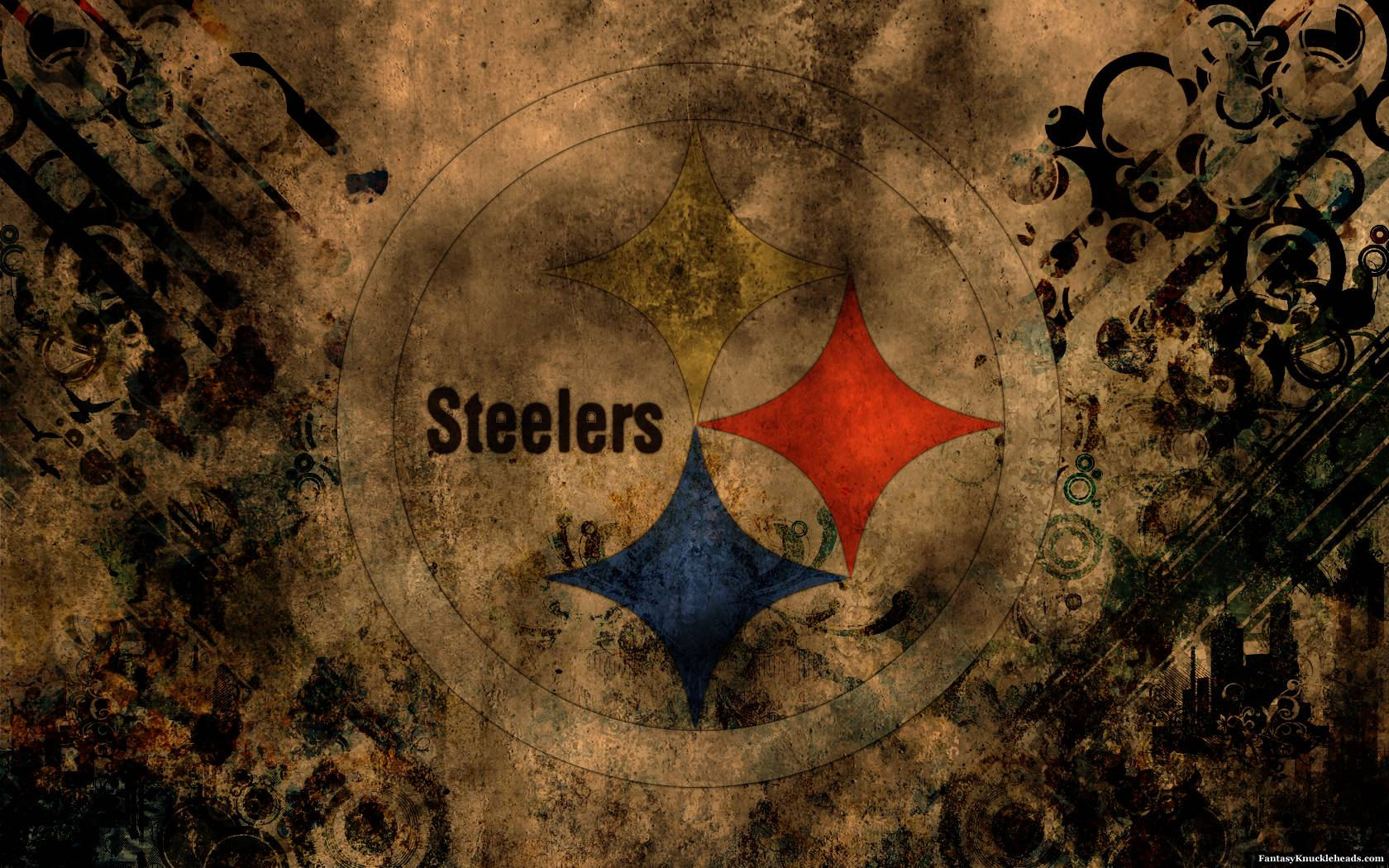Abstract Pittsburgh Steelers Logo Desktop Wall • SongiadaPro