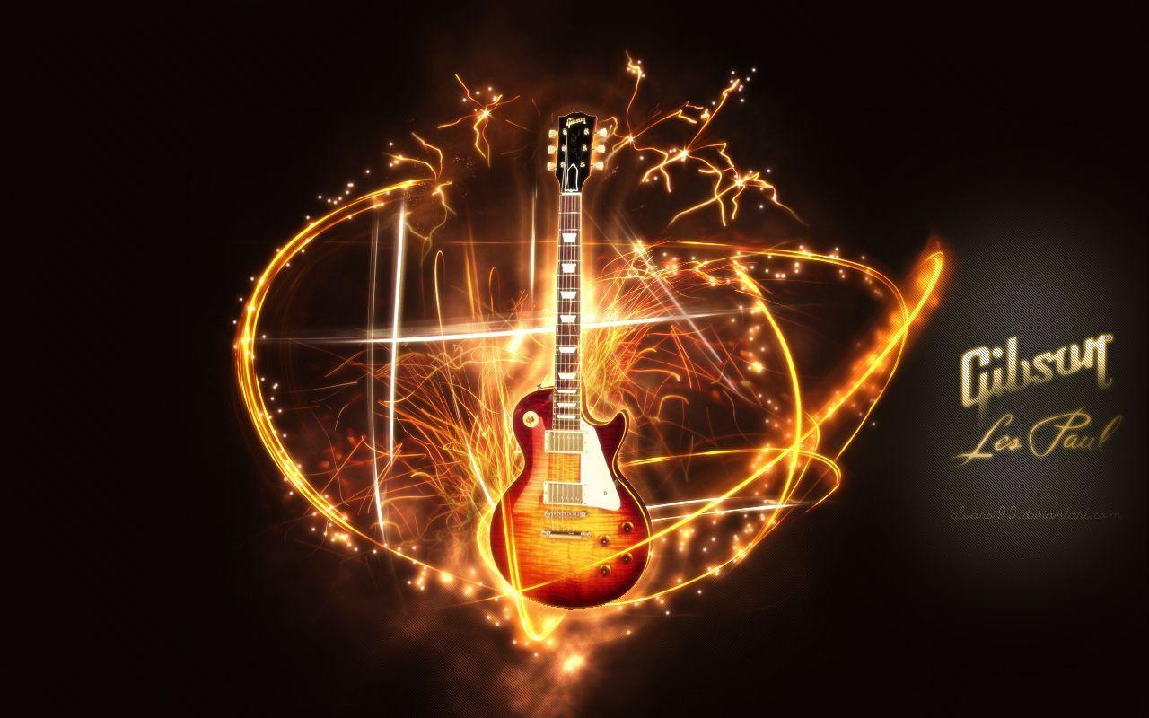 Wallpapers For > Les Paul Electric Guitar Wallpapers