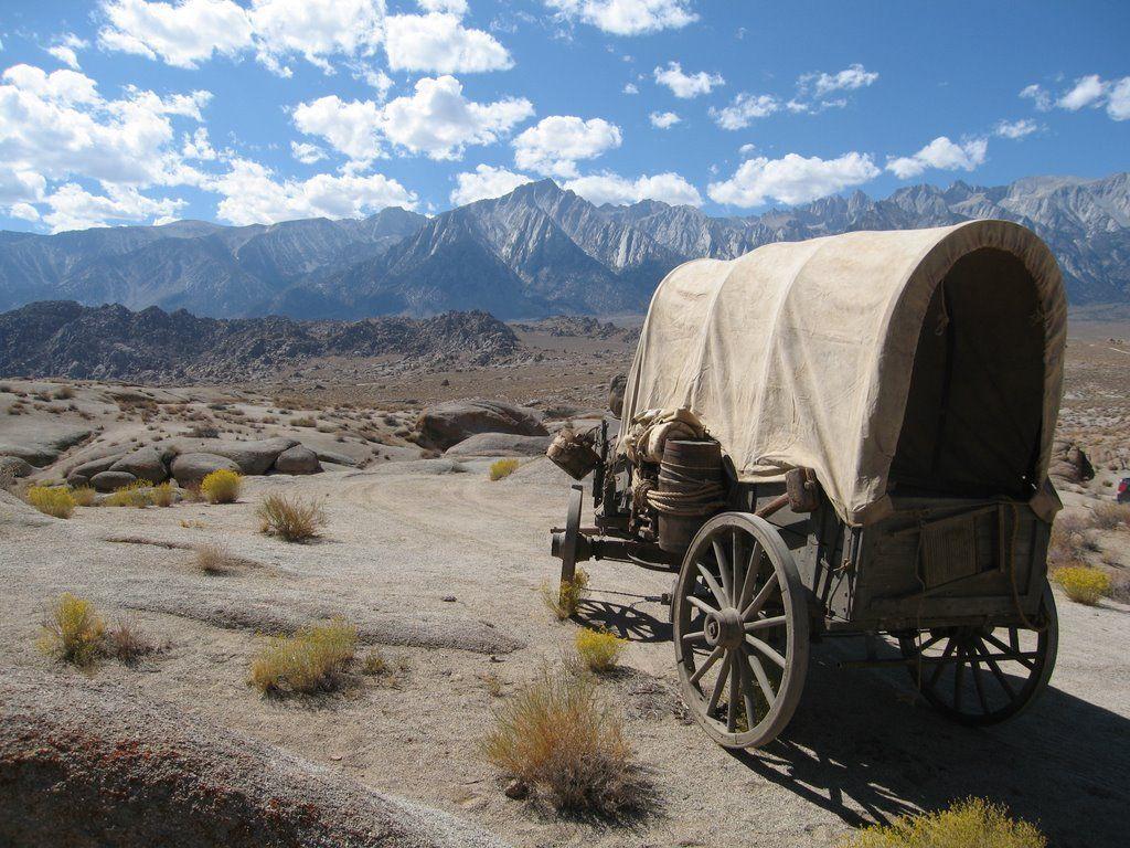 pioneer wagons drawing