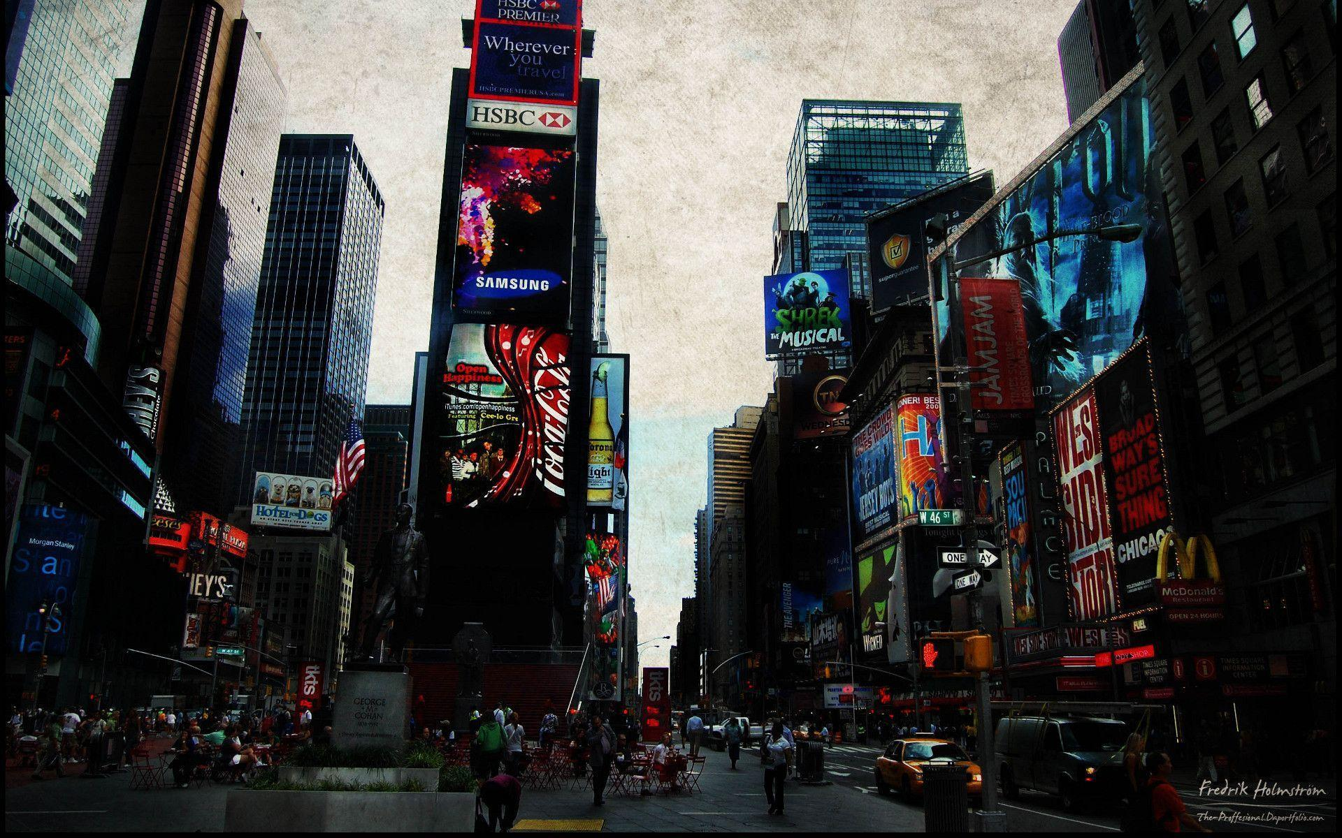 Times Square HD Wallpaper | Theme Bin - Customization, HD ...