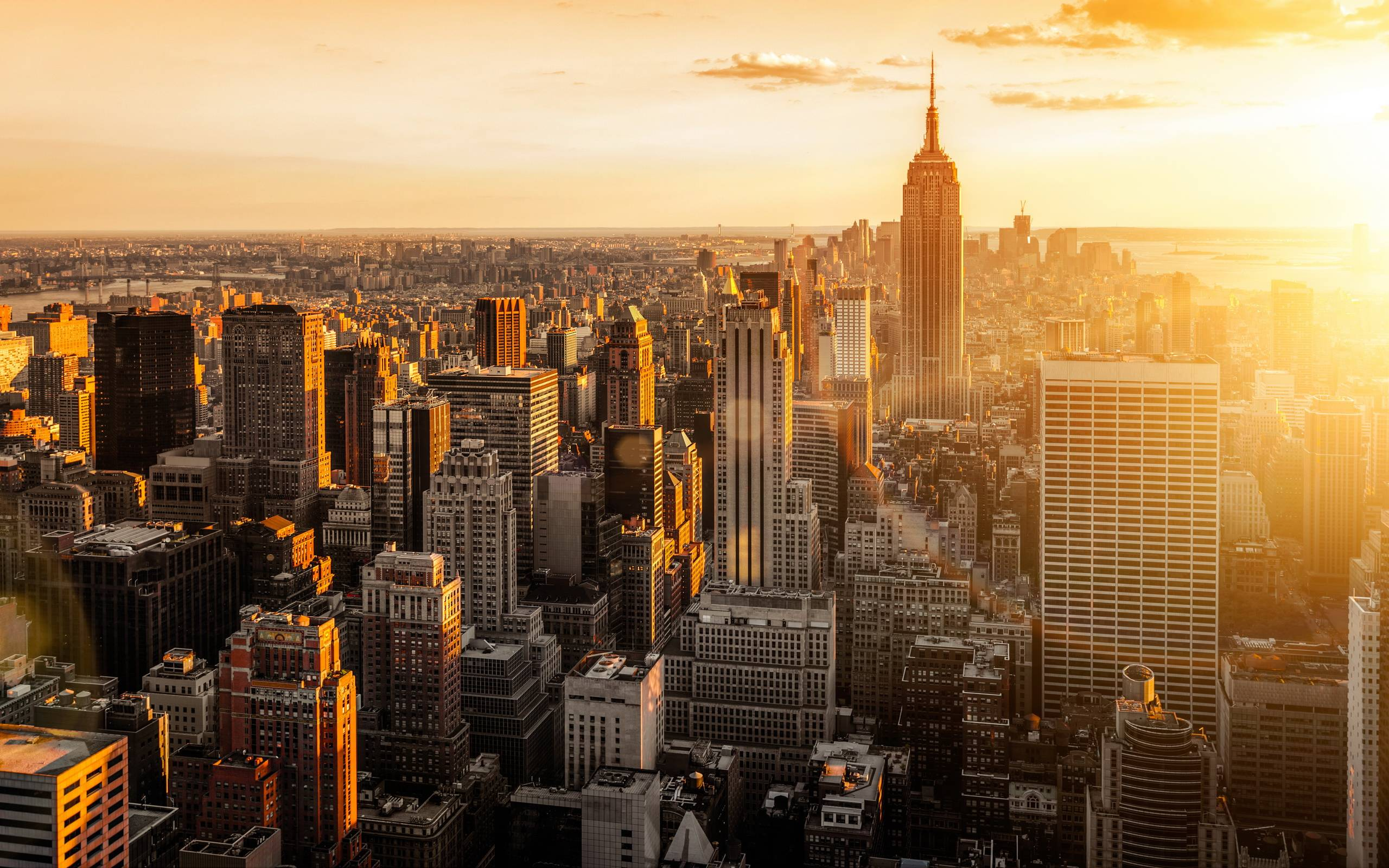New York City Skyline Sunset Wallpapers