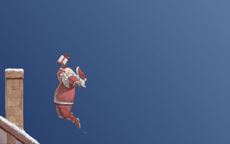 jumping santa claus funny wallpaper photos of download funny - Funny Christmas Wallpaper