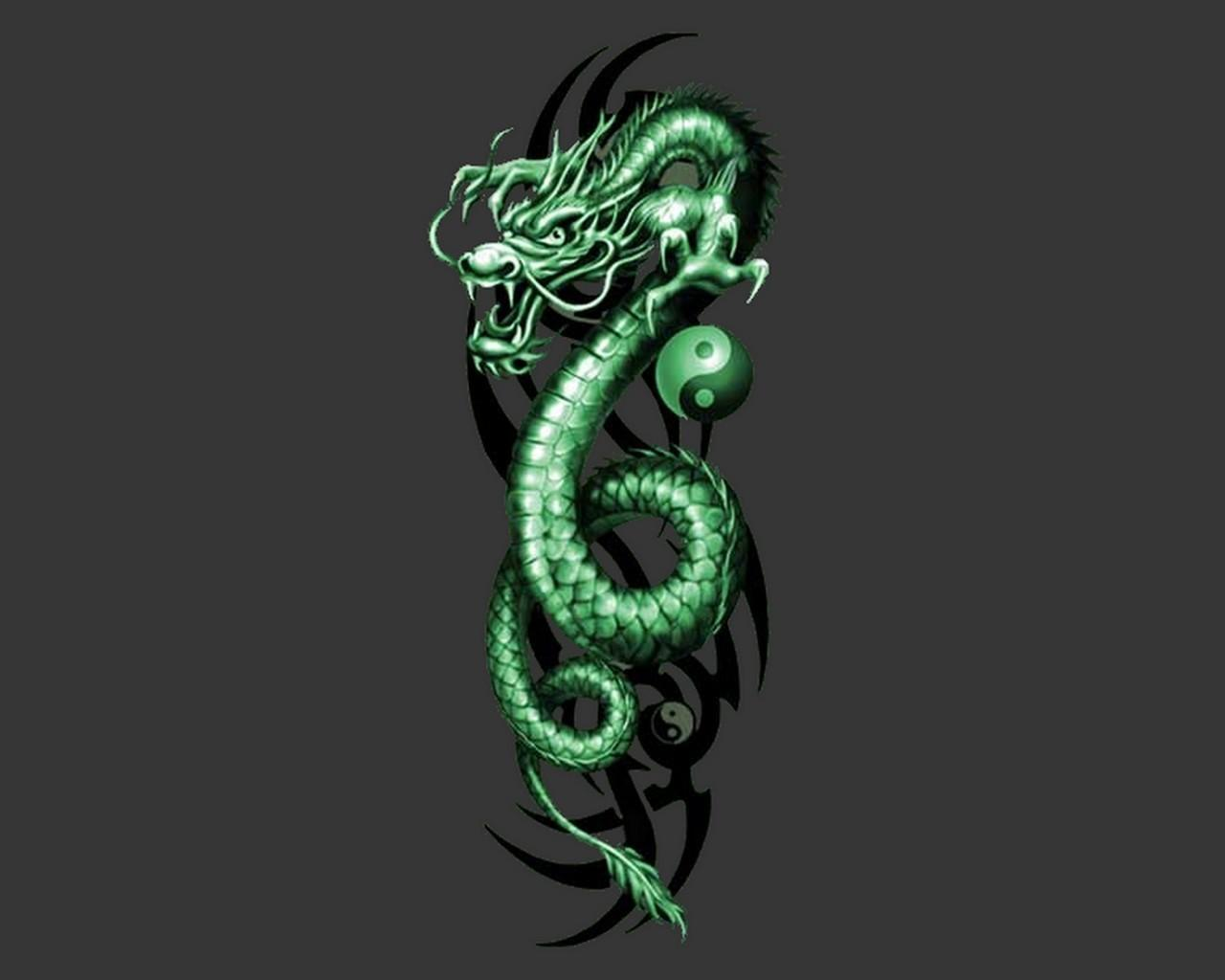 Green Dragon Wallpapers Wallpaper Cave