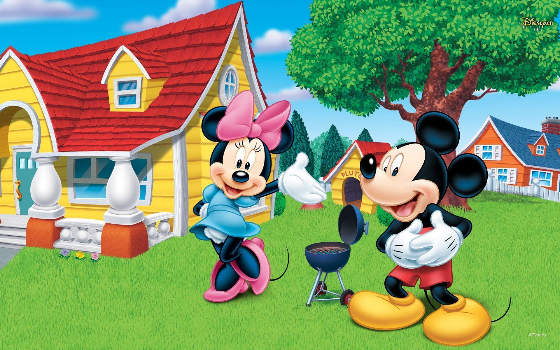 Wallpapers For Mickey And Minnie Mouse Birthday Wallpaper