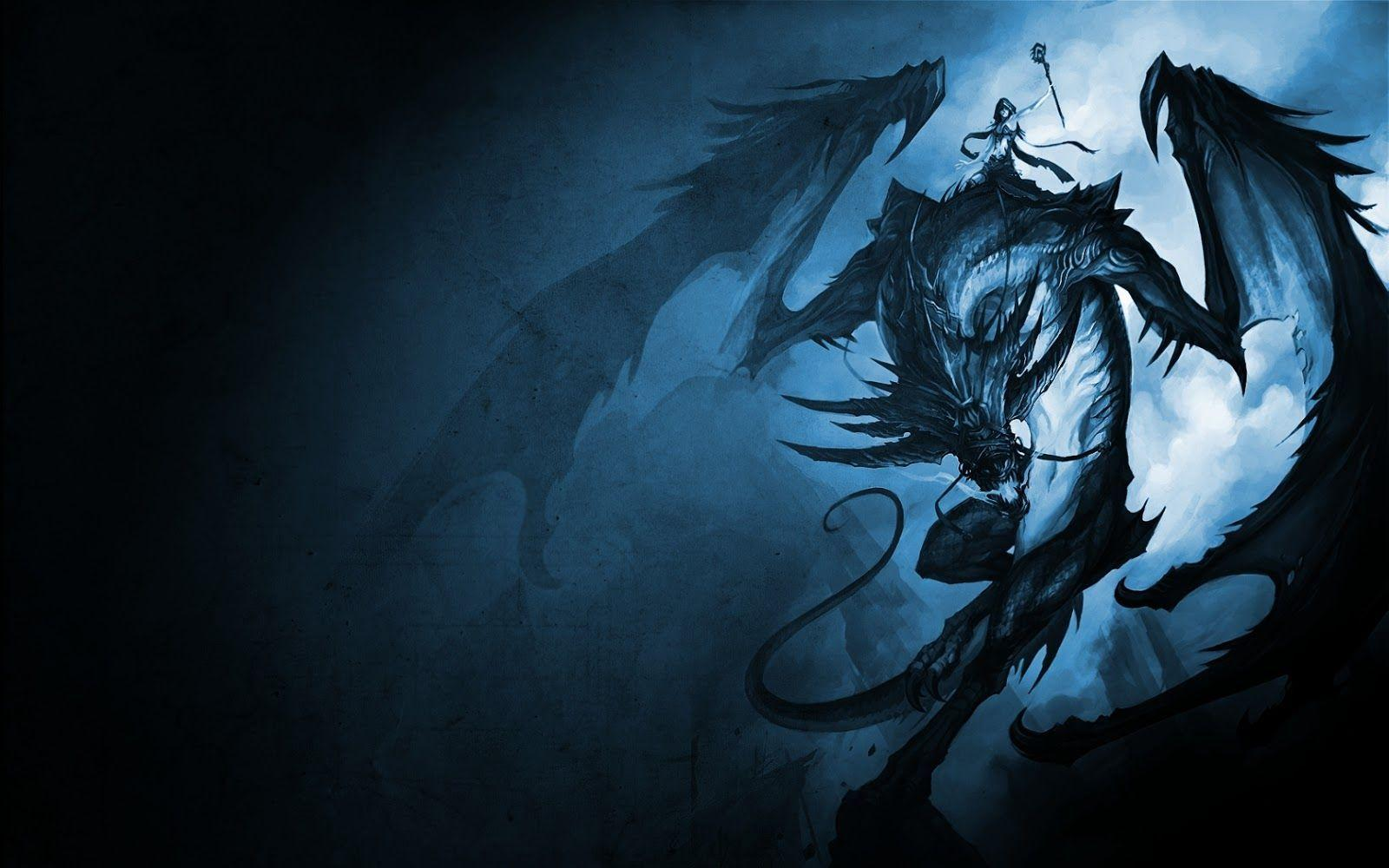 Wallpapers For Black And Blue Dragon Wallpaper