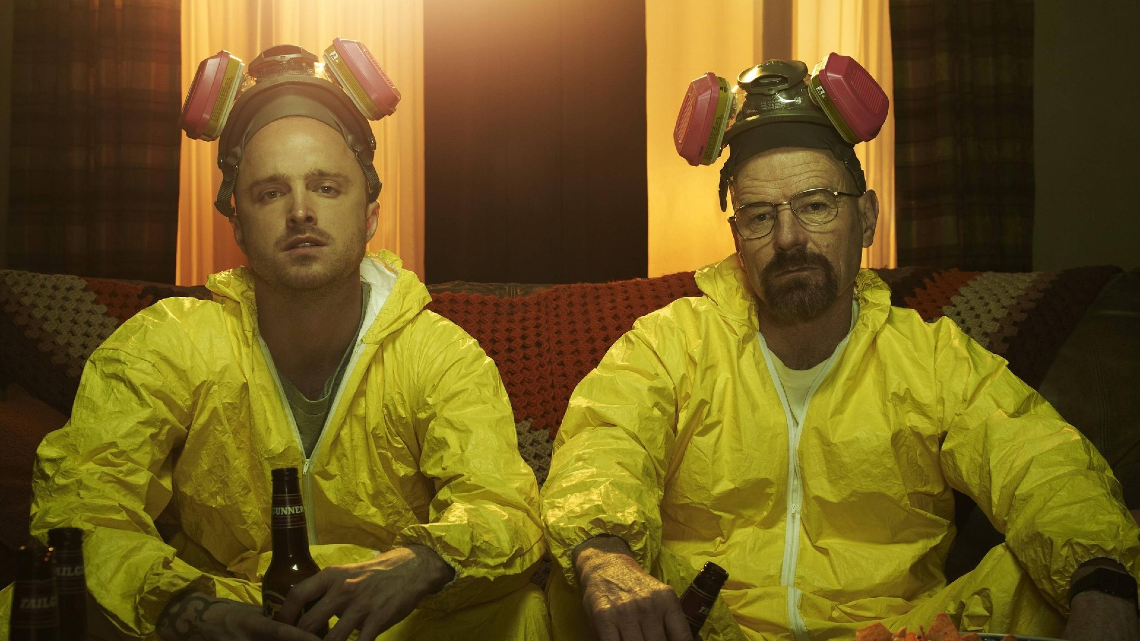 Download Wallpapers 3840x2160 breaking bad, walter white, jesse