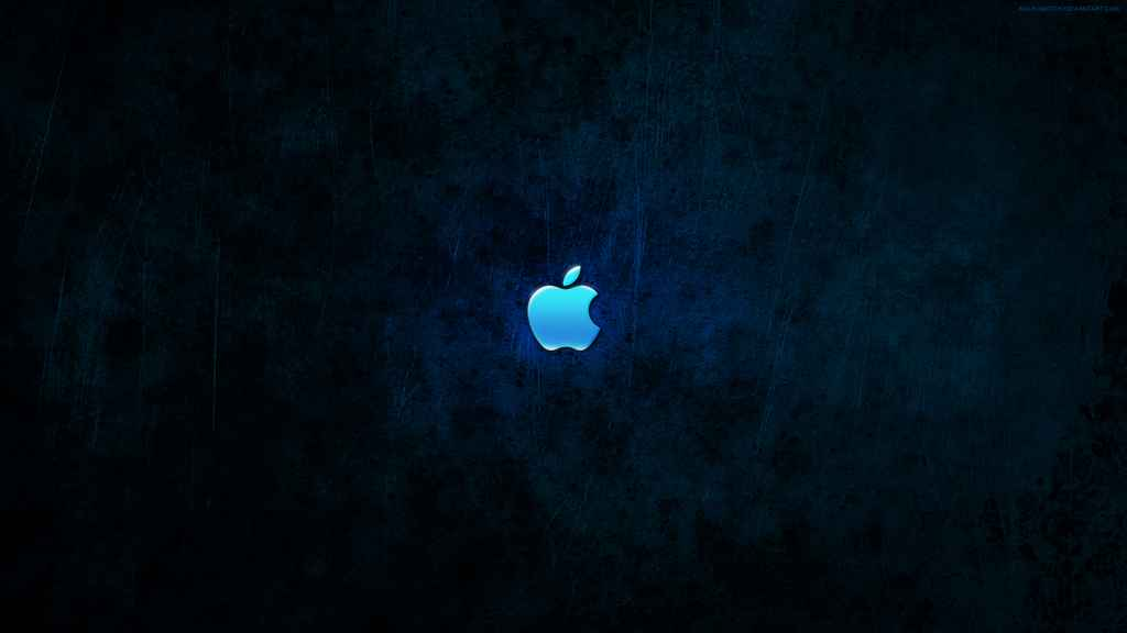 Blue Wallpaper Dark Logo Apple 2848 HD