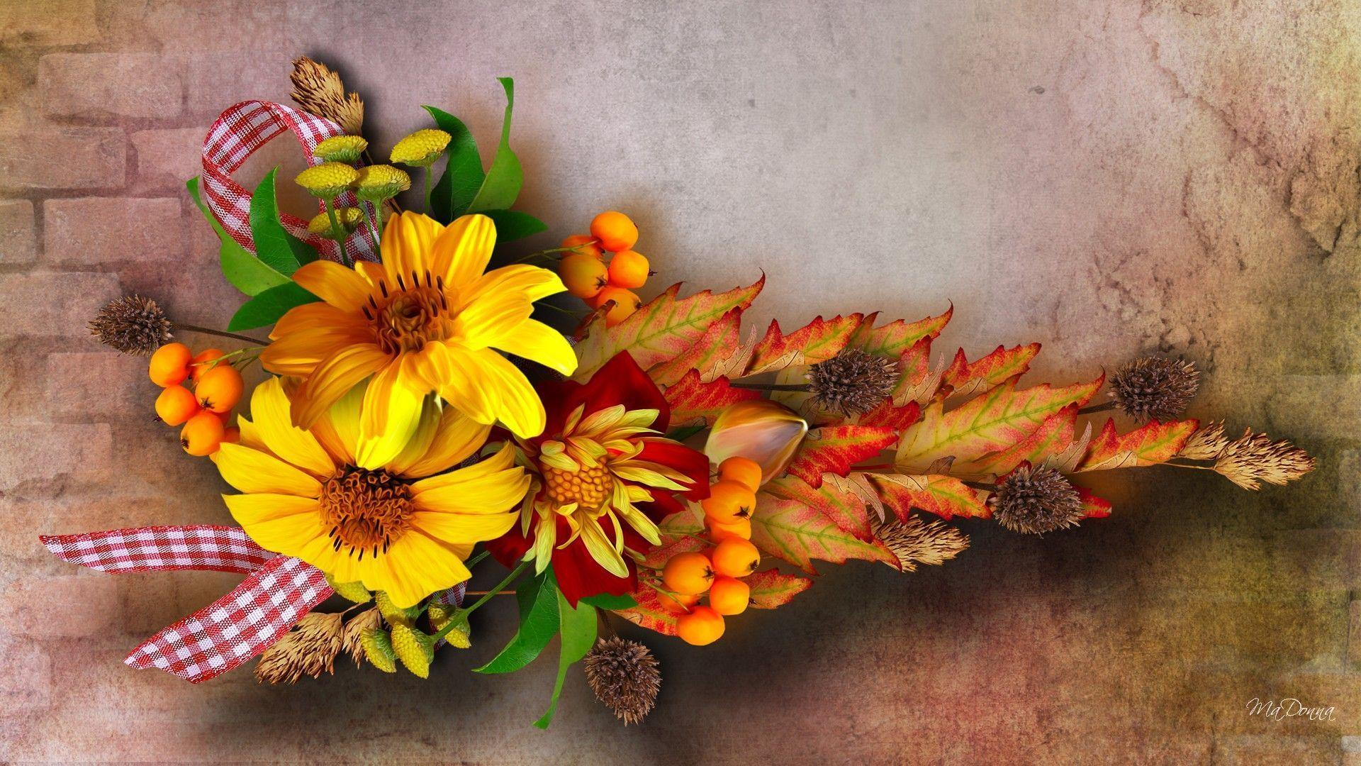 fall flowers wallpaper by - photo #3