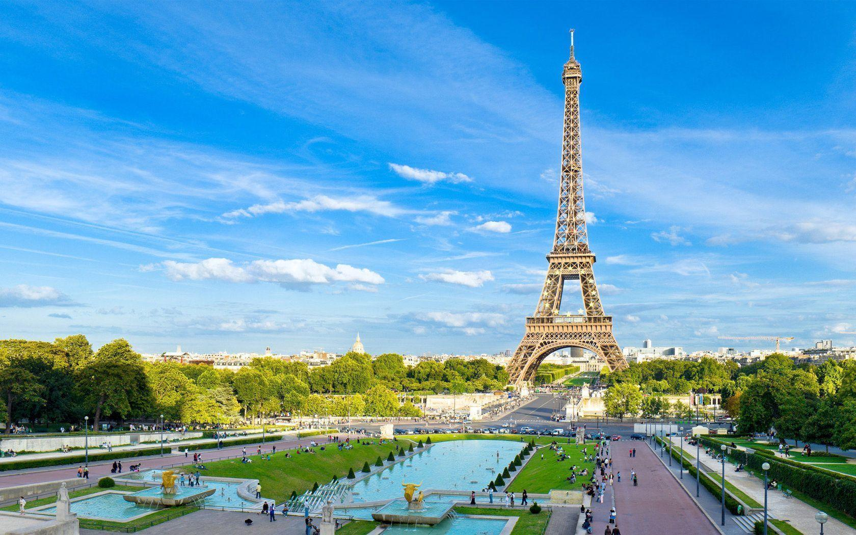 HD Wallpapers: 1680x1050 » Cities » summer in paris hd desktop