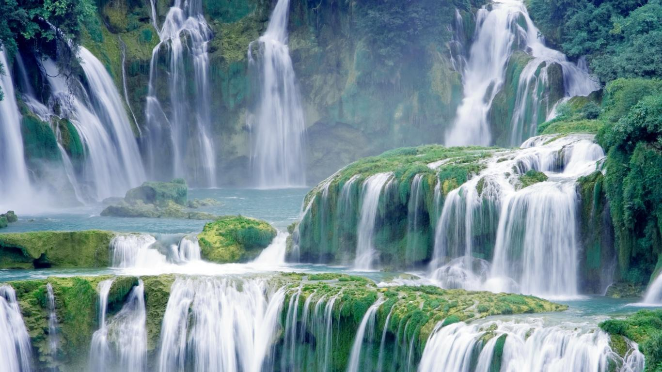 Beautiful Waterfall Scenery Nature HD Wallpape Wallpapers