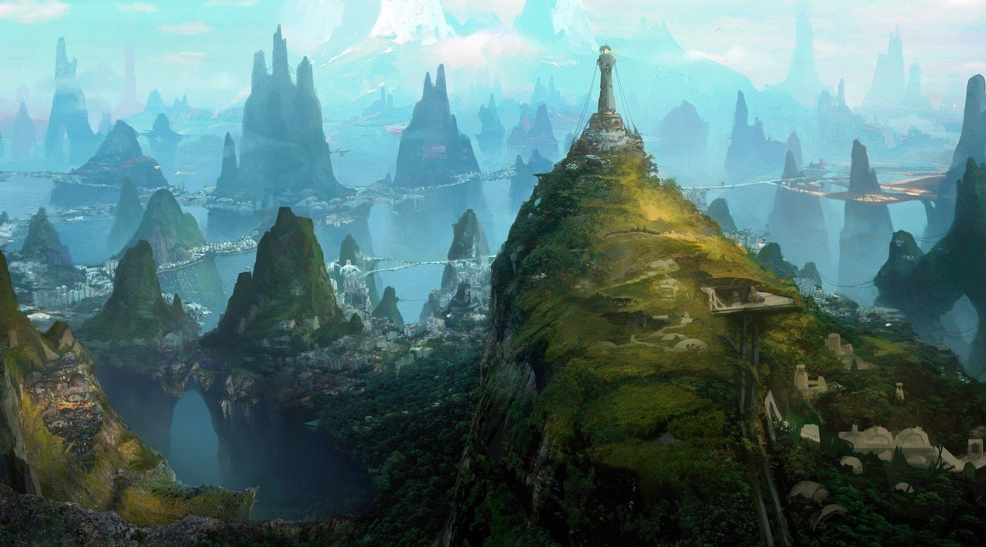 Fantasy Landscape City Photos 14861 Full HD Wallpapers Desktop