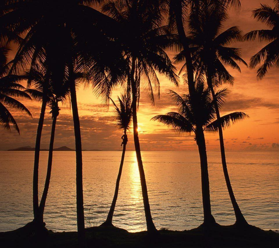 Island Beach Sunset: Tropical Island Sunset Wallpapers