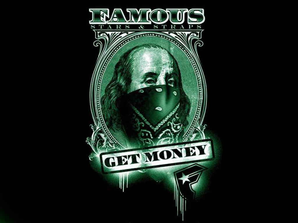 Get Money Wallpapers - Wallpaper Cave Famous Stars And Straps Logo Green