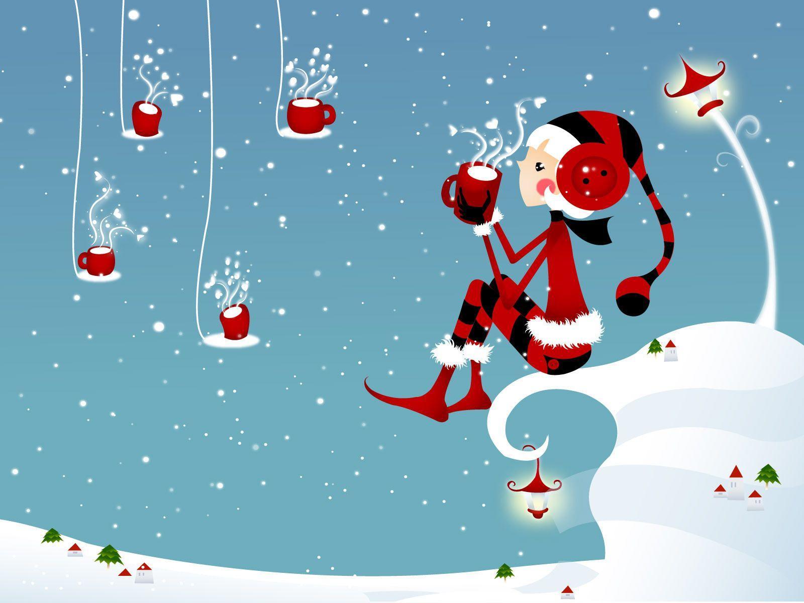 Cute Christmas Desktop Backgrounds - Wallpaper Cave Cute Christmas Wallpaper