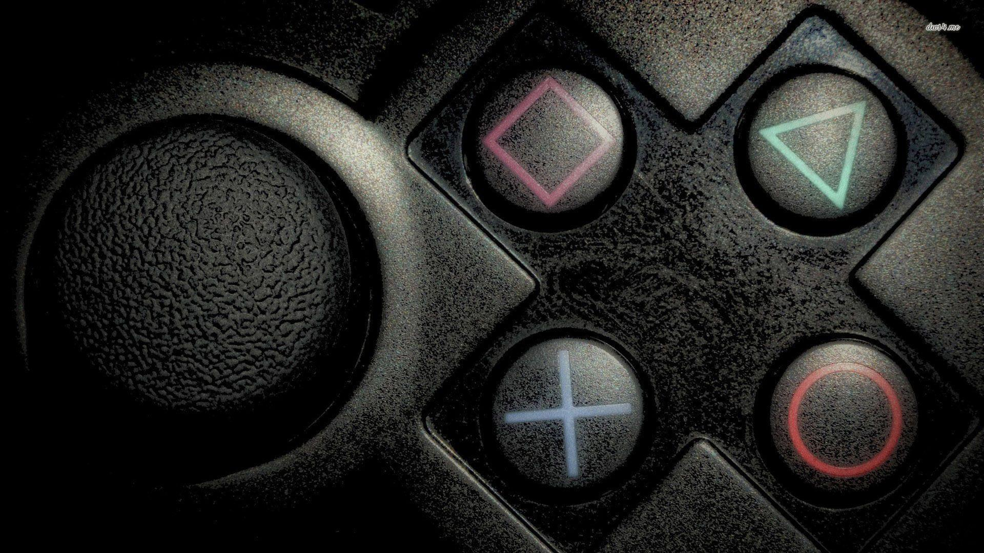 Neon PlayStation buttons Wallpapers