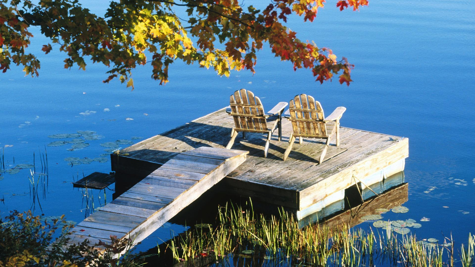images for adirondack chair lake