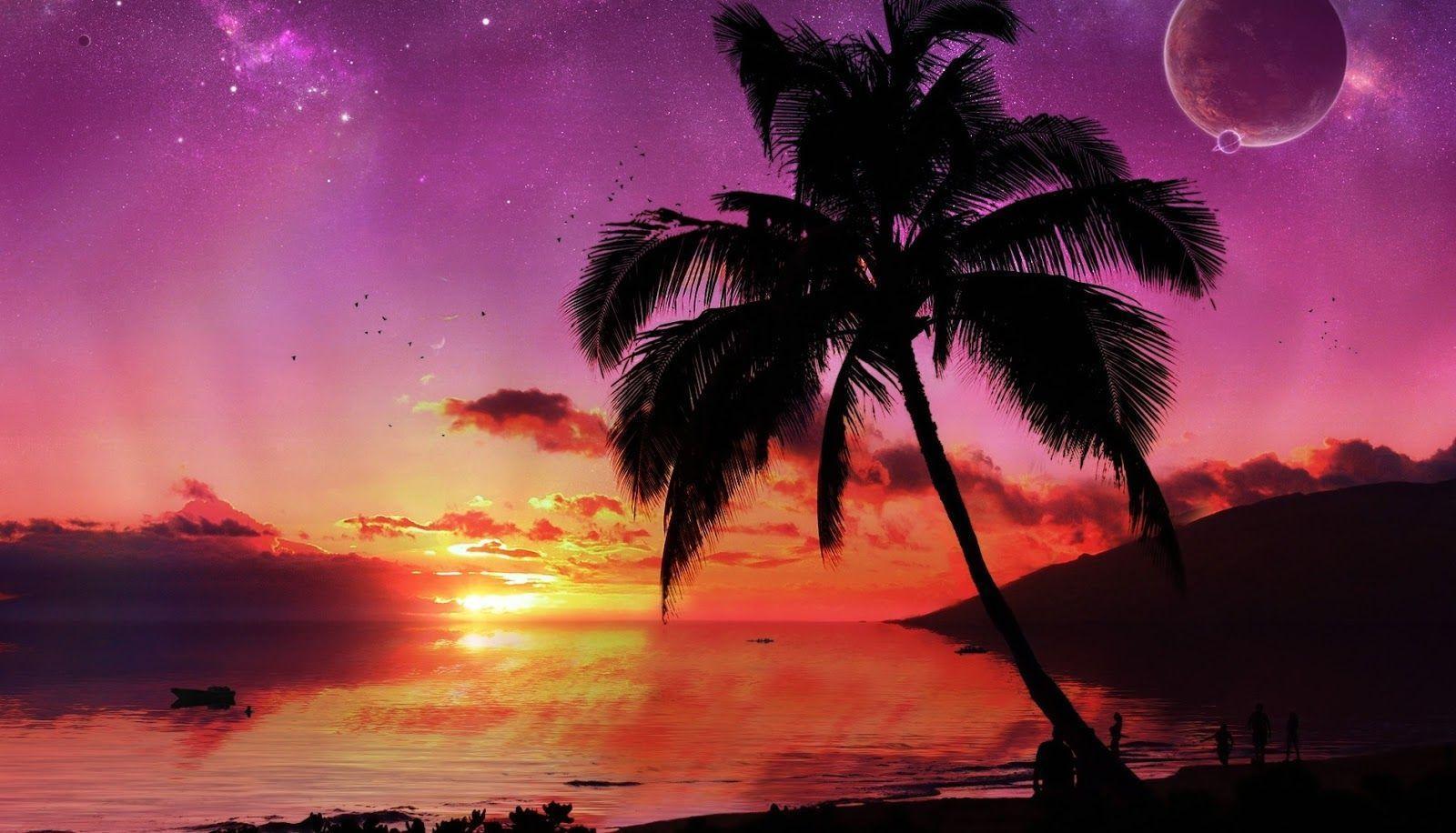 tropical island sunset wallpapers wallpaper cave. Black Bedroom Furniture Sets. Home Design Ideas
