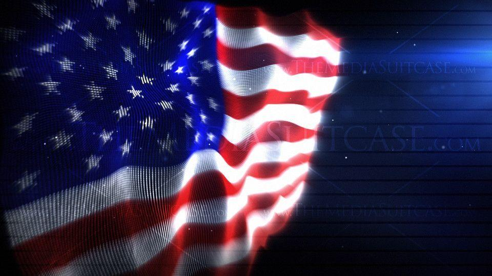 American Flag Backgrounds Video