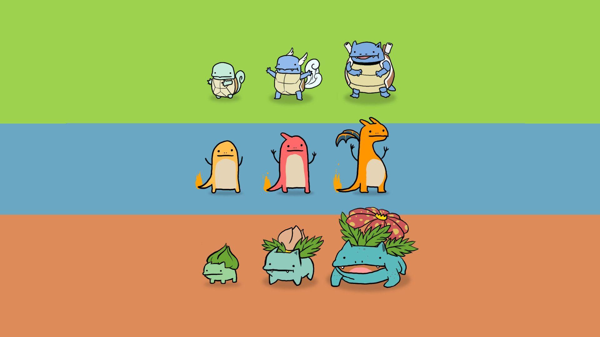 338 best Pokemon wallpapers images on Pinterest | Pokemon ... |Starter Pokemon Phone Wallpaper
