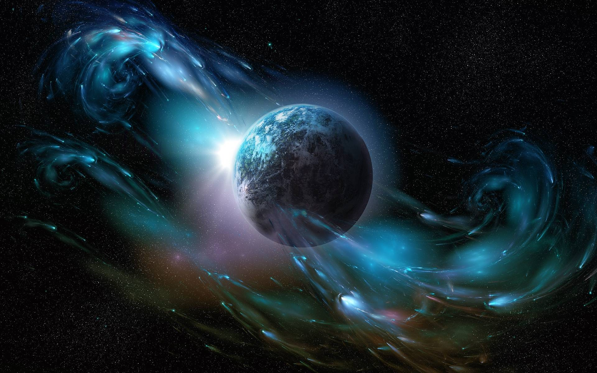 earth from outer space desktop wallpaper hdwallshare com