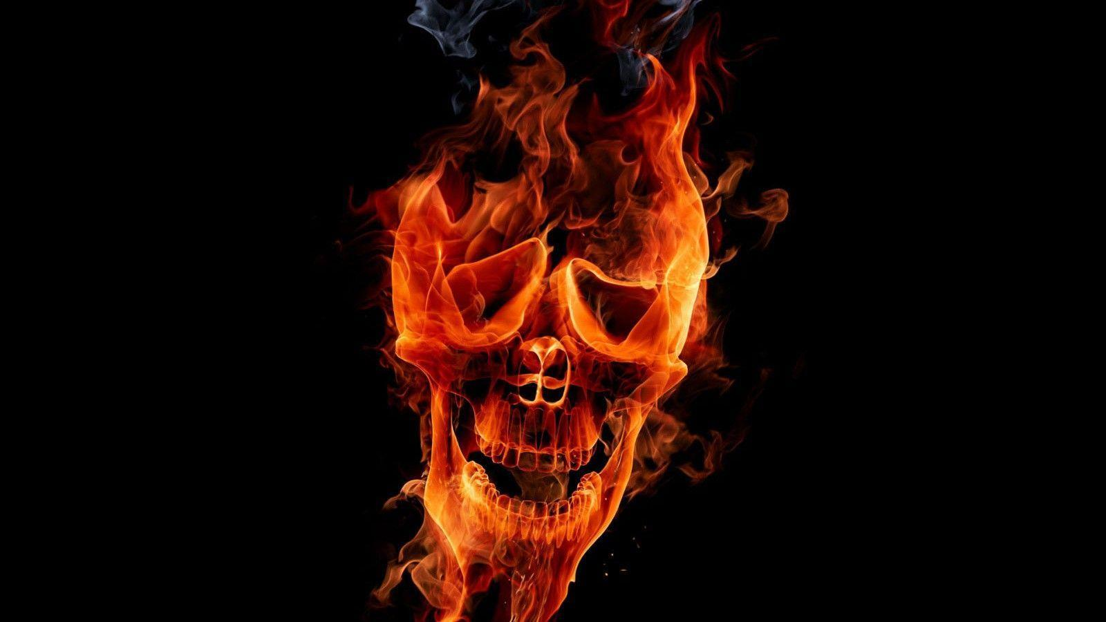 Flaming Skull Wallpapers Wallpaper Cave