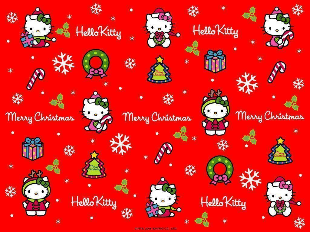 hello kitty christmas wallpapers wallpaper cave. Black Bedroom Furniture Sets. Home Design Ideas