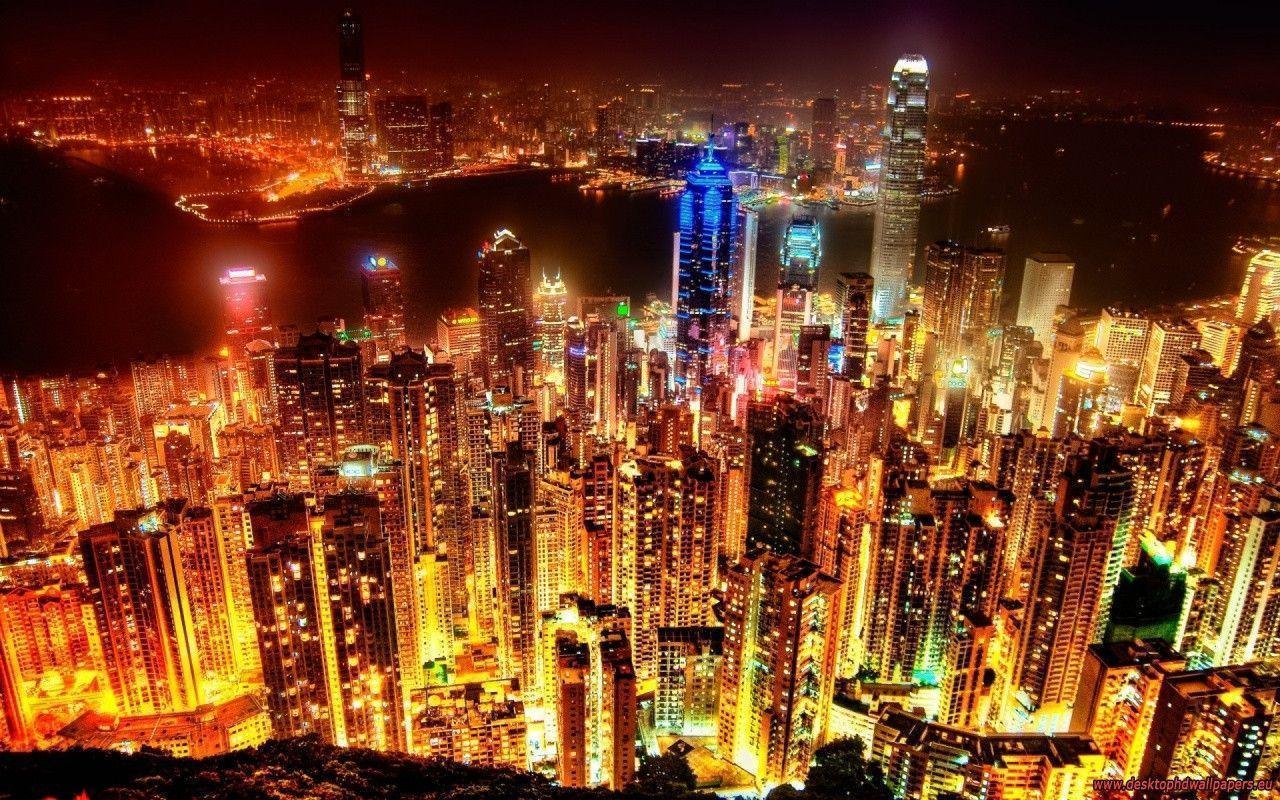 City lights backgrounds wallpaper cave - Night light city wallpaper ...