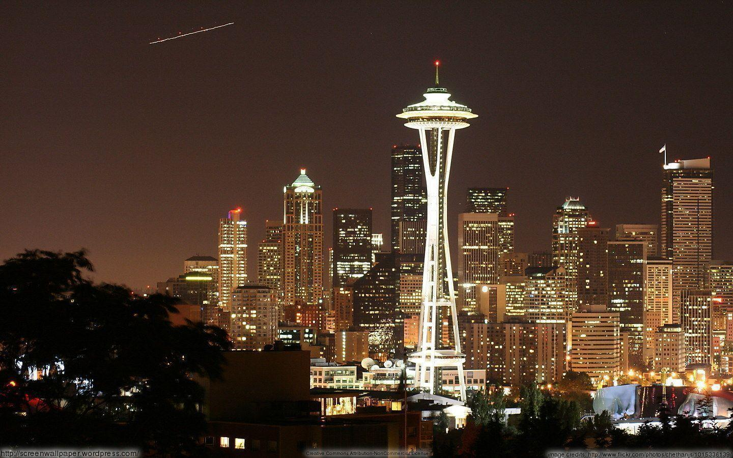 Seattle Space Needle Skyline | just great wallpapers