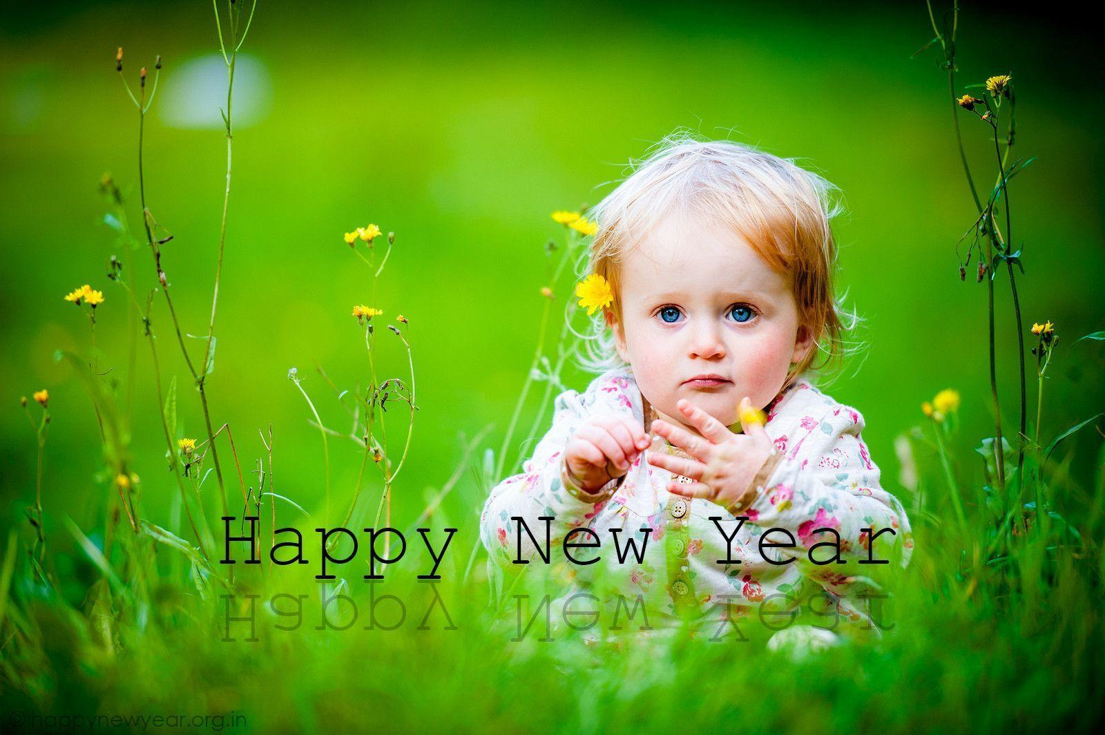 Cute babies Happy New Year 2015 Wallpapers in HD