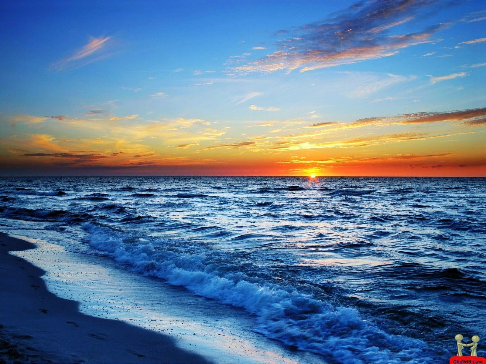 Beautiful Ocean Sunset Wallpapers Image & Pictures