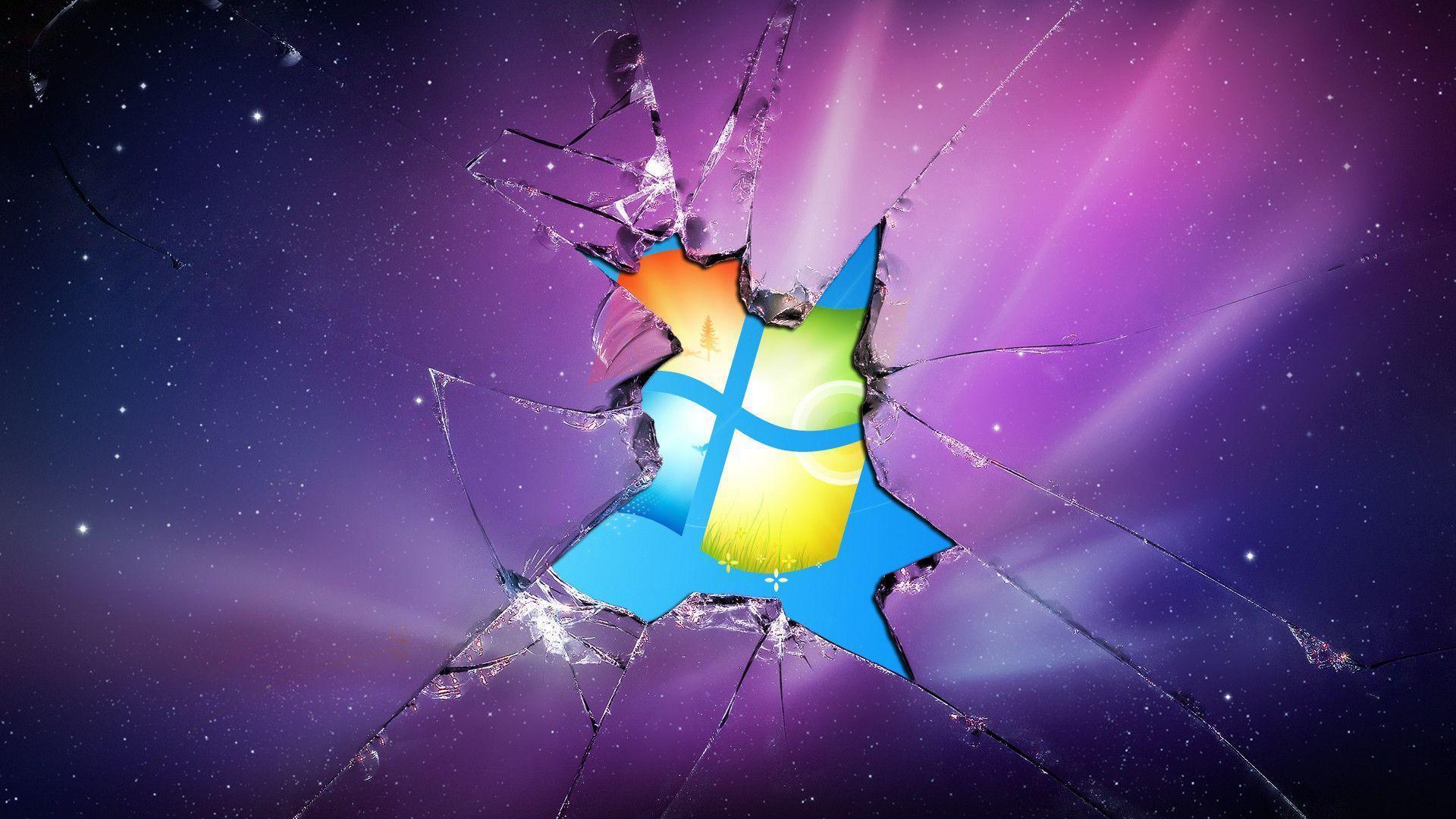 cracked screen wallpaper macbook - photo #8